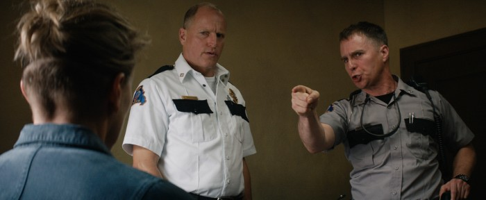 Woody Harrelson and Sam Rockwell in the film THREE BILLBOARDS OUTSIDE EBBING, MISSOURI.  Photo courtesy of Fox Searchlight Pictures. © 2017 Twentieth Century Fox Film Corporation All Rights ...